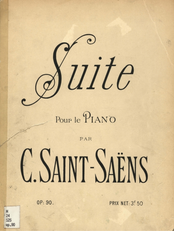 Suite: pour le piano, op. 90