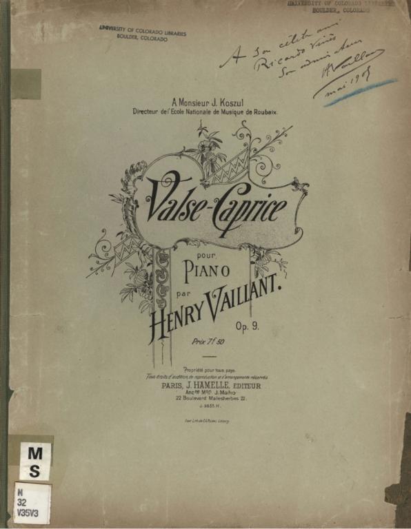Valse-caprice pour piano, op. 9