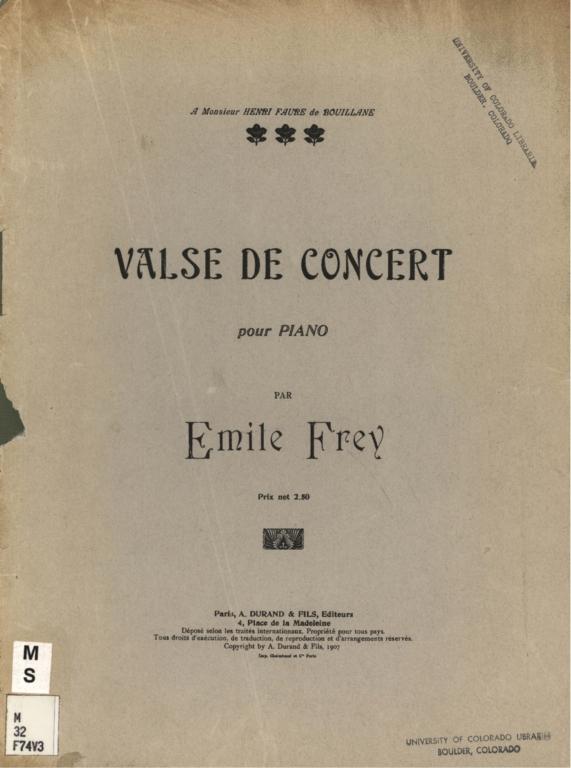 Valse de concert: pour piano