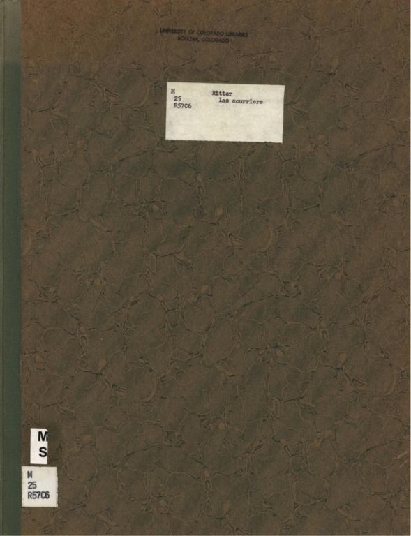 Les courriers: caprice pour piano, op. 40