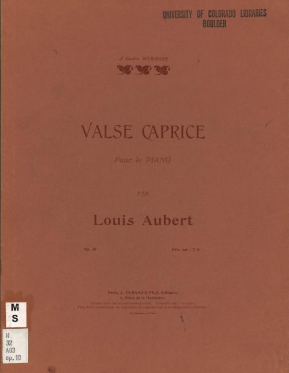Valse caprice: pour le piano, op. 10