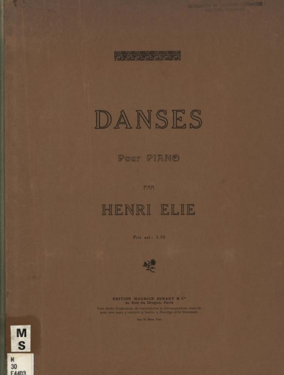 Danses pour piano