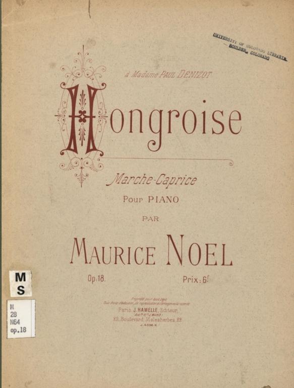 Hongroise: marche-caprice pour piano, op. 18