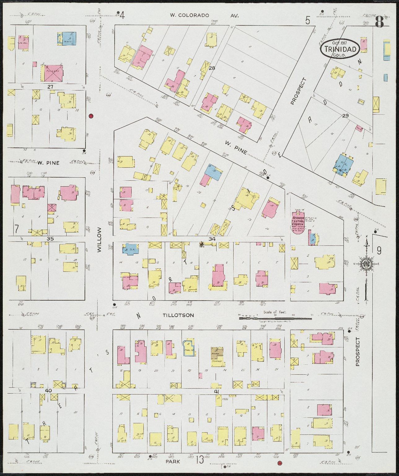 Insurance maps of Trinidad, Las Animas County, Colorado