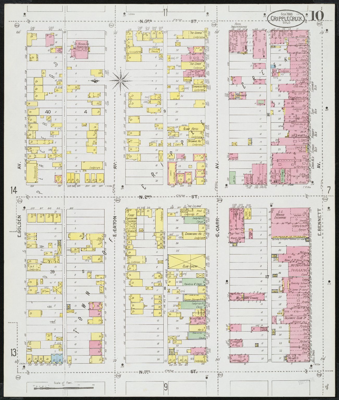 Insurance maps of Cripple Creek, including Anaconda and Gillett, Colorado