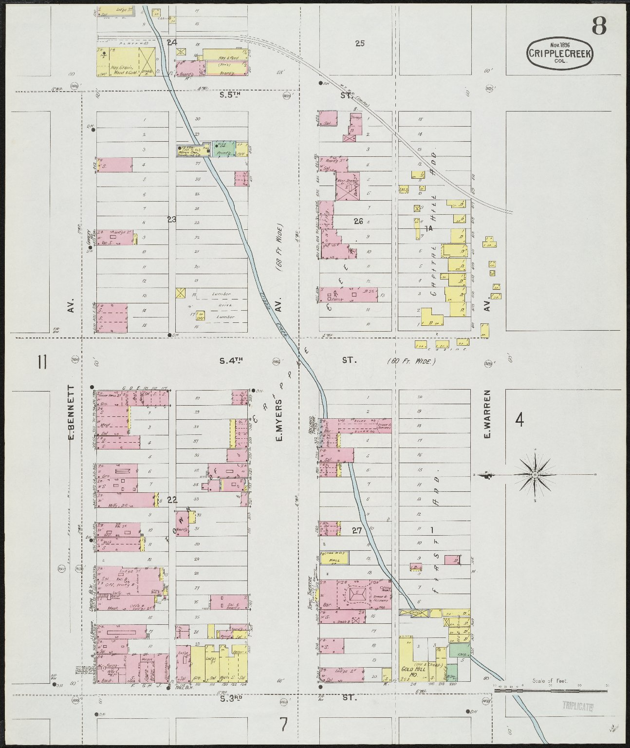Insurance maps of Cripple Creek, including Anaconda, Gillett, Independence, Goldfield, and Altman, El Paso Co., Colorado