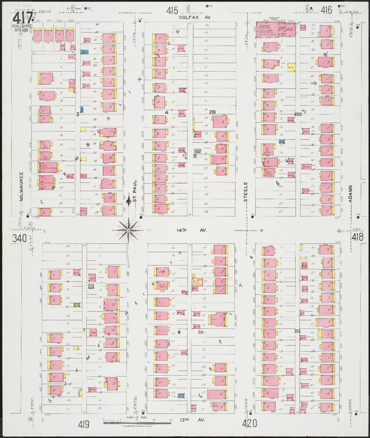 Denver vol. III, add'l sheet, Apr. 1919
