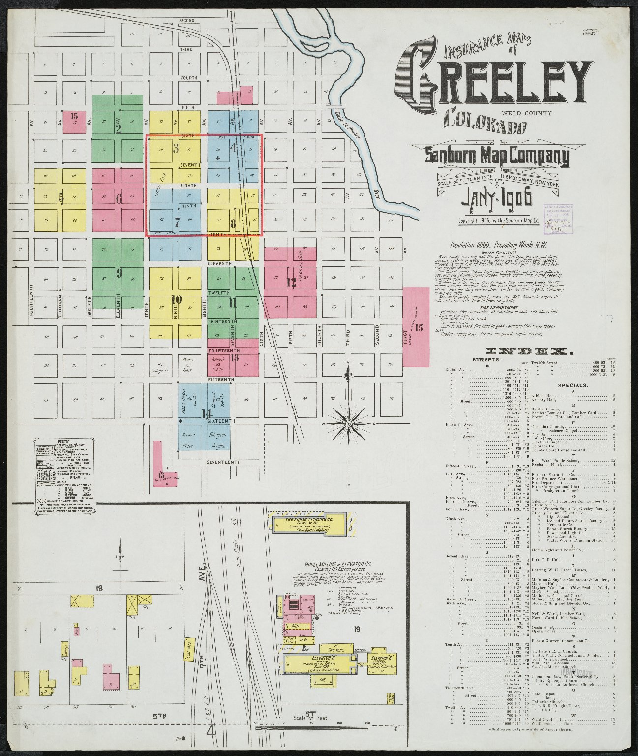 Insurance maps of Greeley, Weld County, Colorado