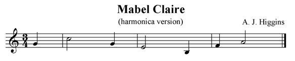 Mabel Clare (Harmonica Version)