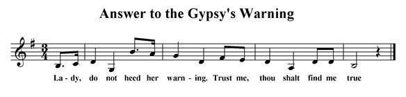 Answer to the Gypsy's Warning