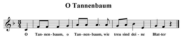 O Tannebaum (fragment)