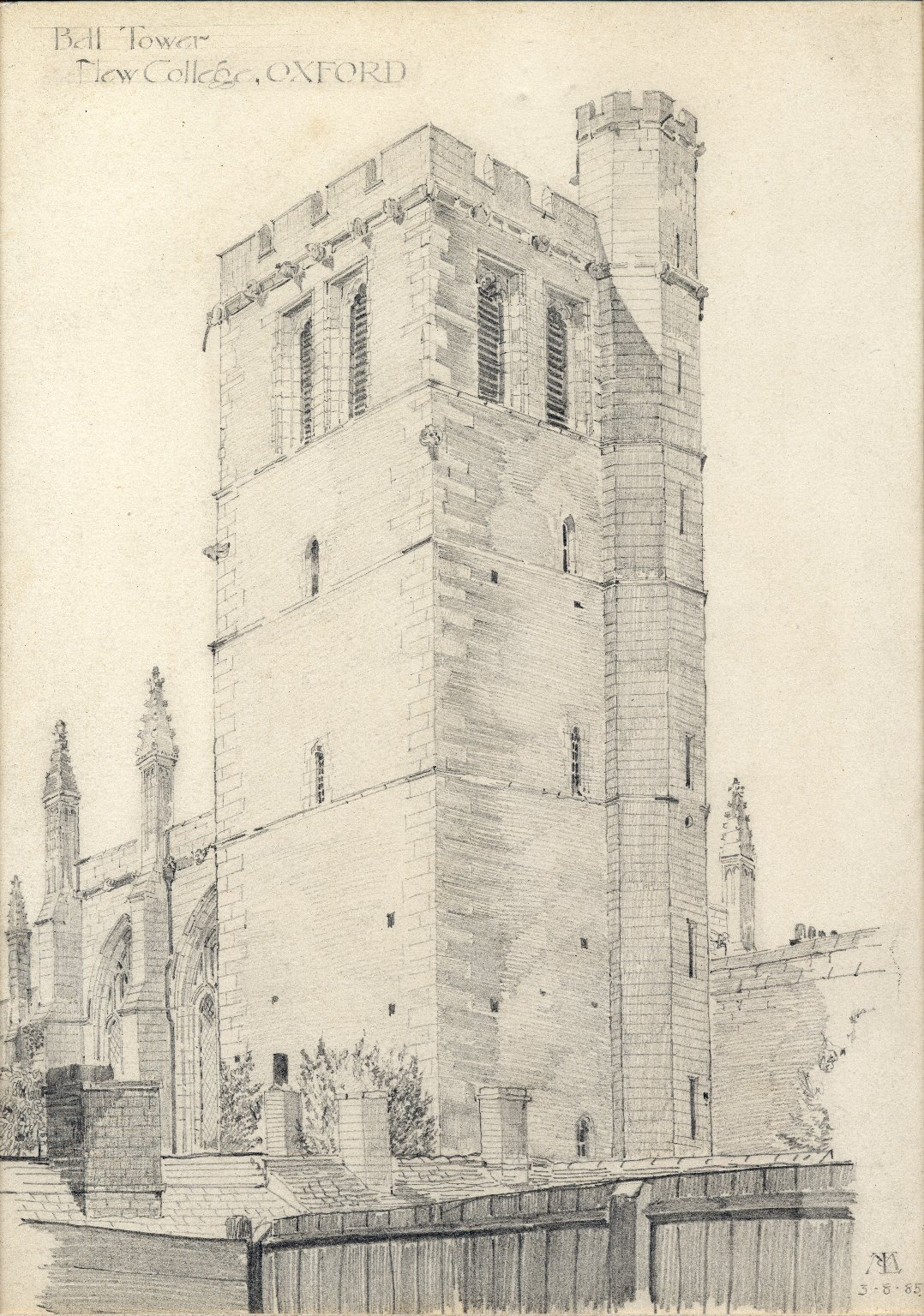 Bell tower of New College, Oxford