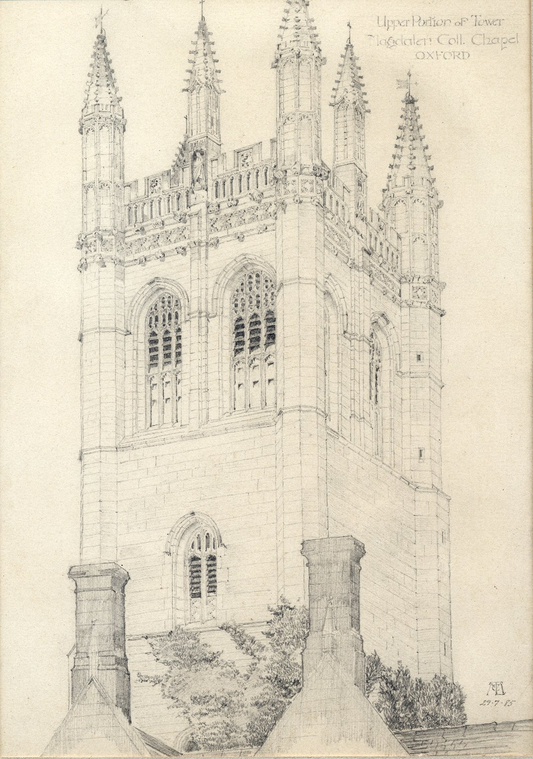 Tower at Magdalene College Chapel