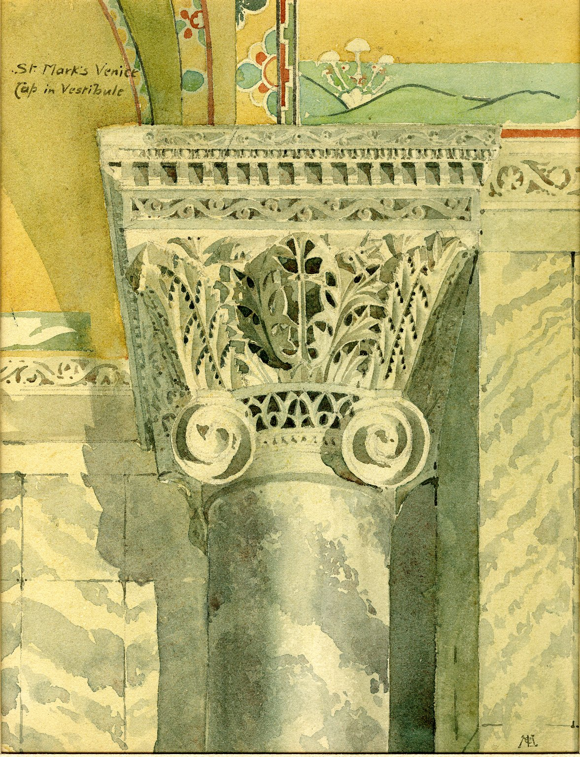 Capital of column at St. Mark's Basilica