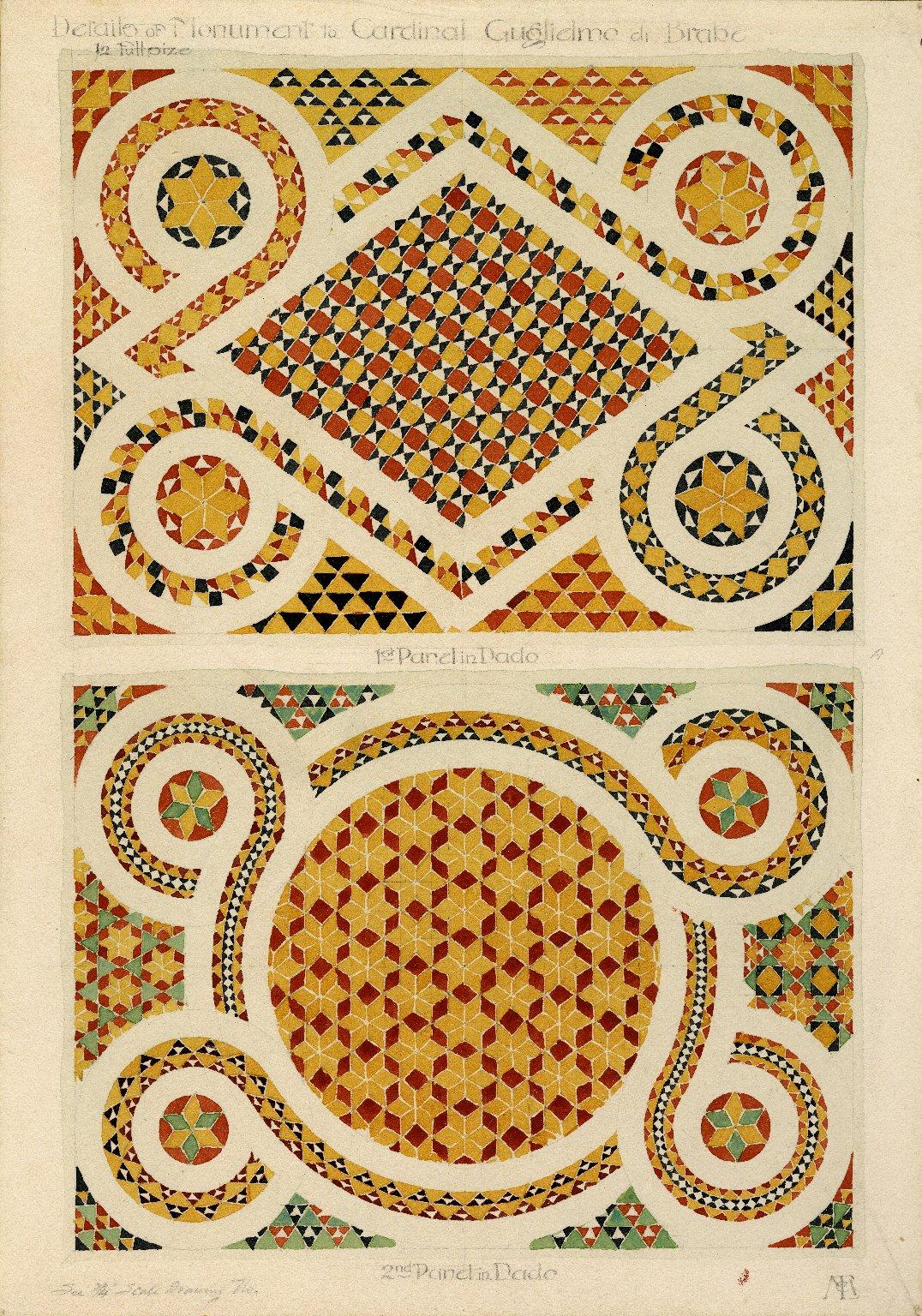 Mosaic details on tomb at San Domenico Church