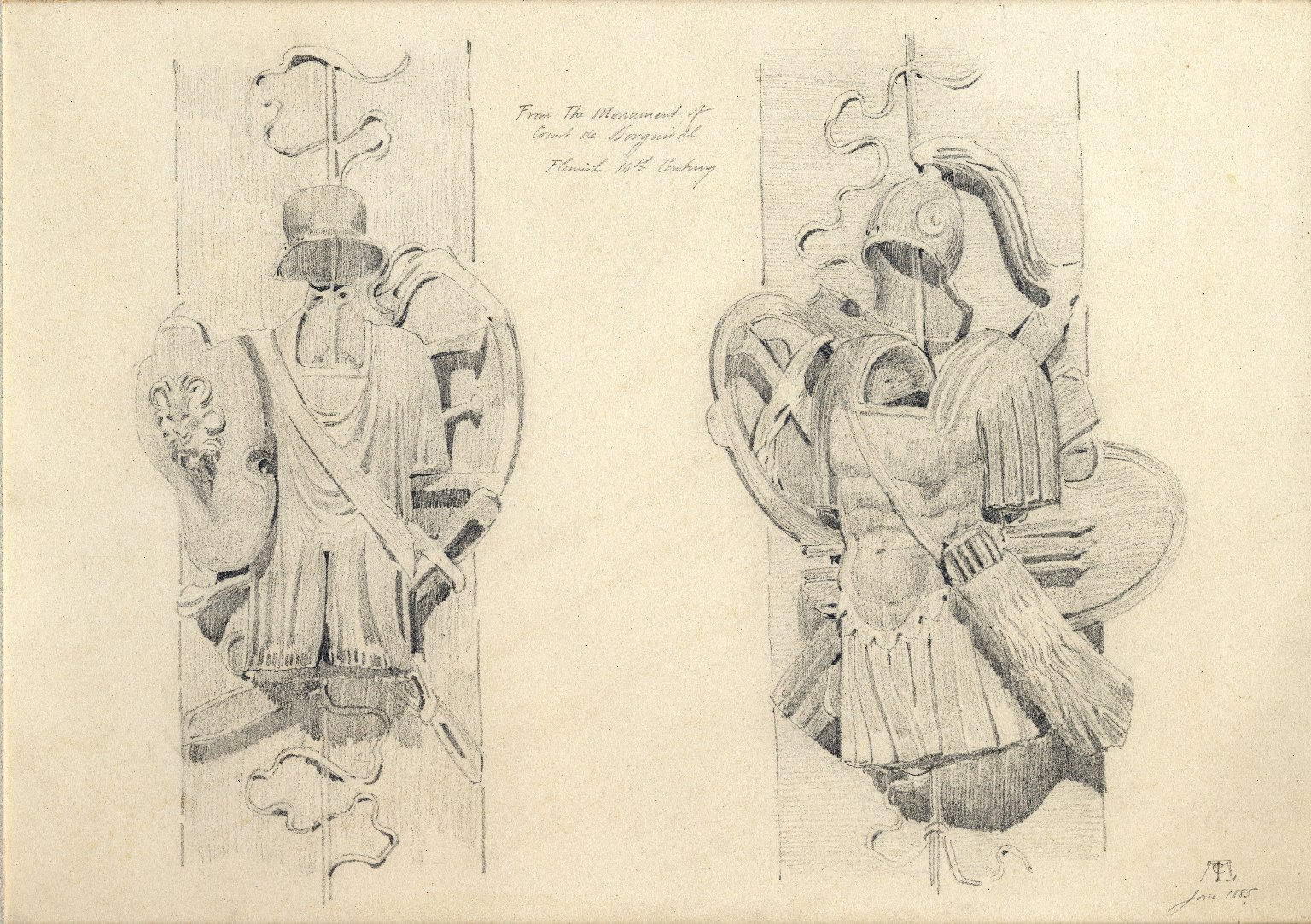 Armors from Monument of the Count de Borgnival