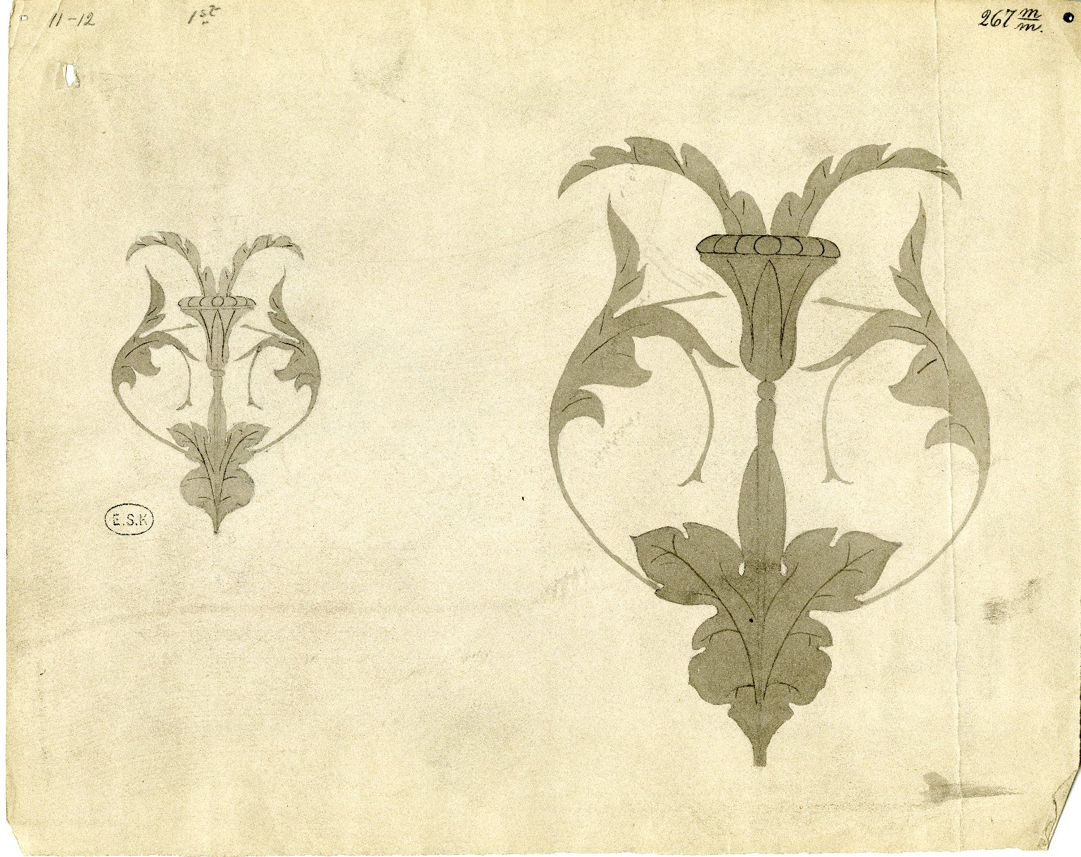 Two floral designs