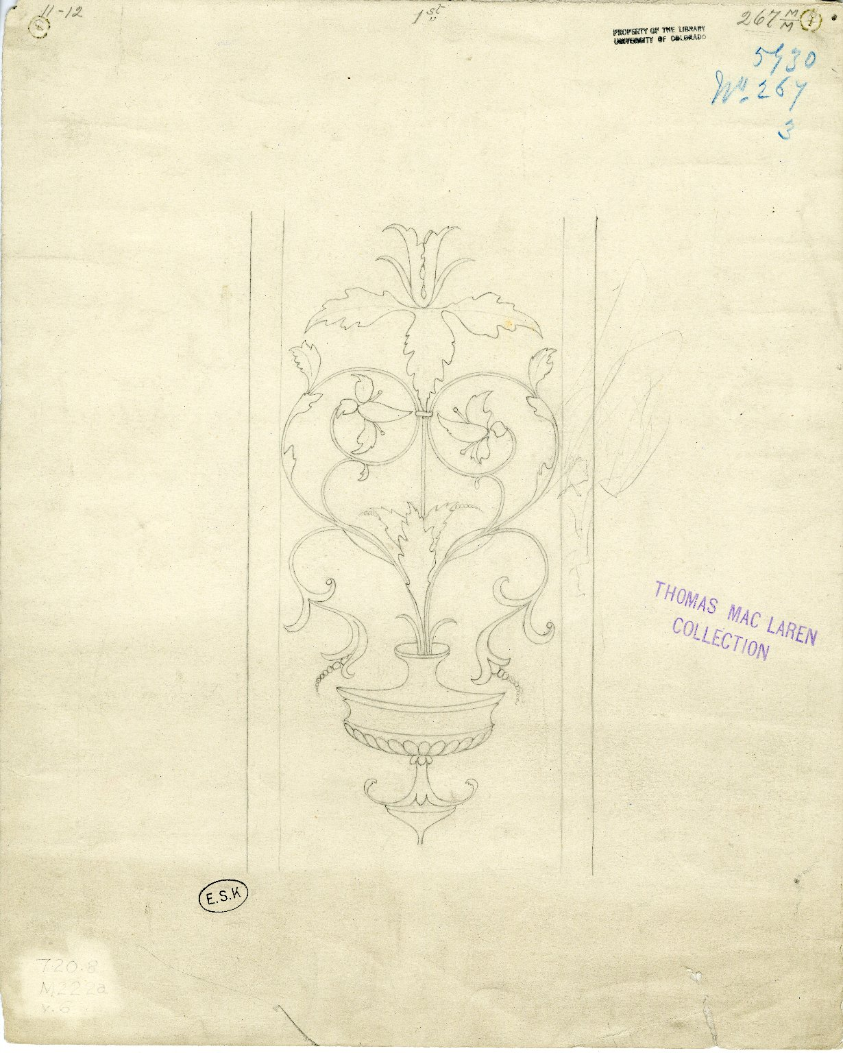 Floral wall or gate design