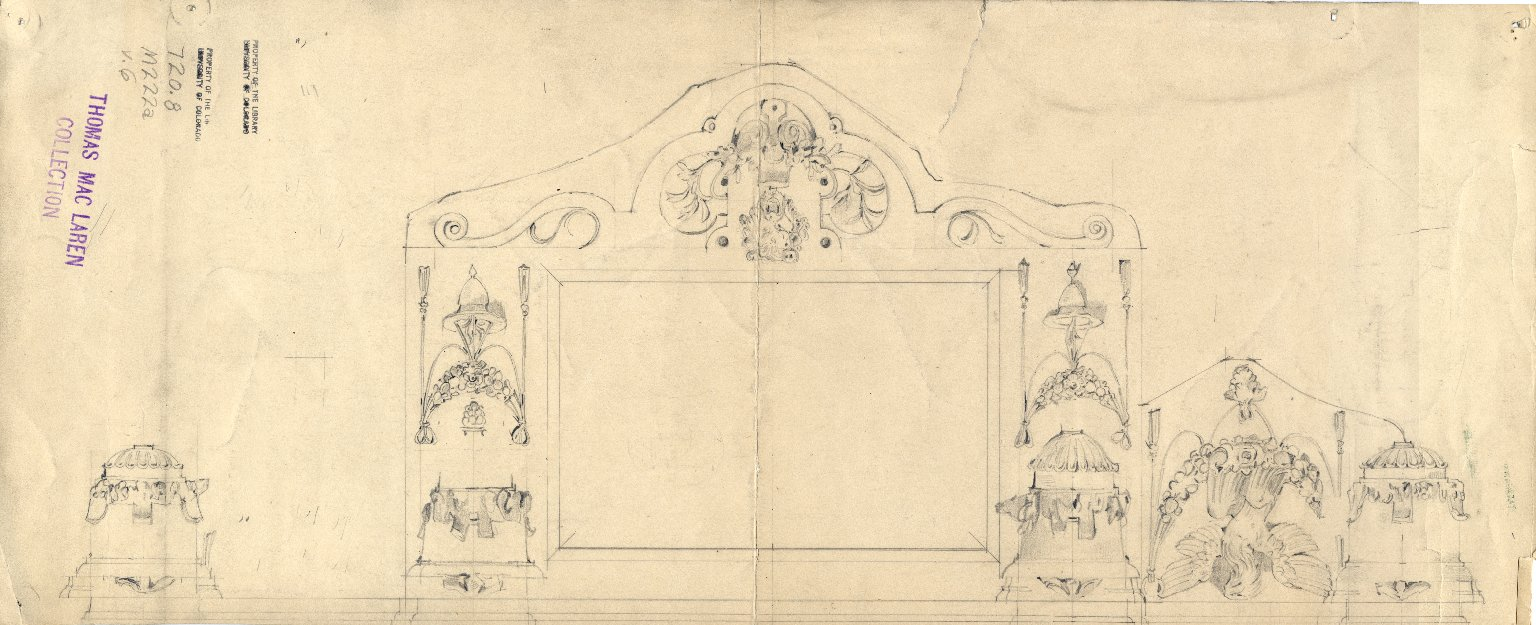 Architectural design from Monument of Count de Borgnival