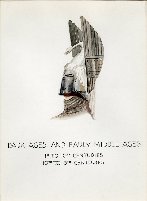 Plate XIII: Dark and Early Middle Ages helmet