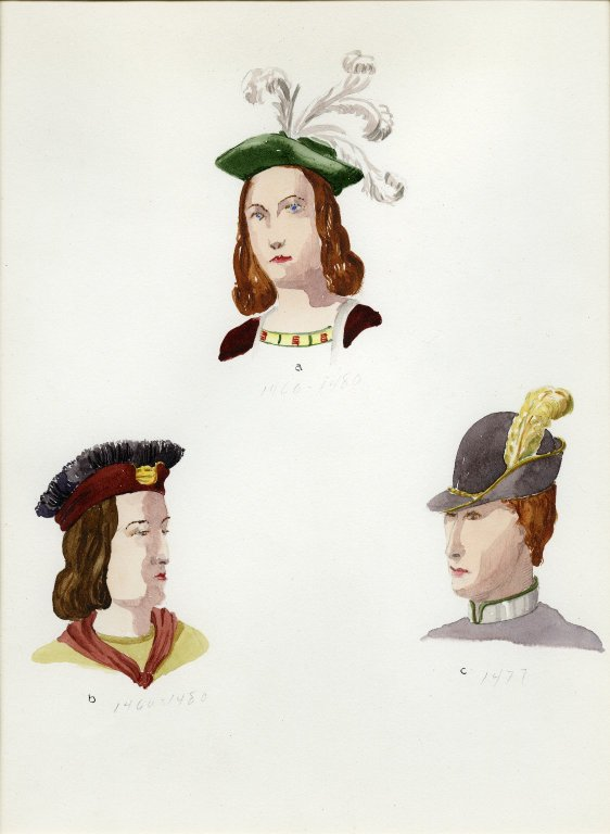 Plate IX: Late Middle Ages French hat, hat, hat