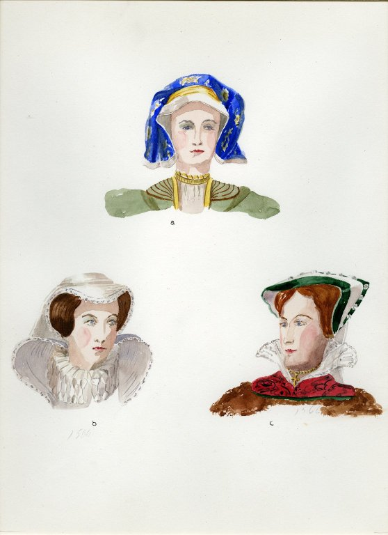 Plate XV: 16th Century English cap, hats
