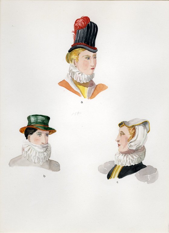 Plate XVII: 16th Century English hats