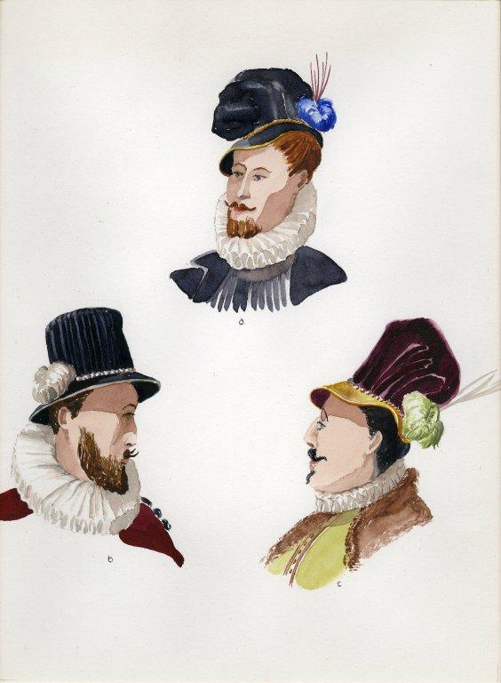 Plate XIX: 16th Century Italian bonnet, hat, hat