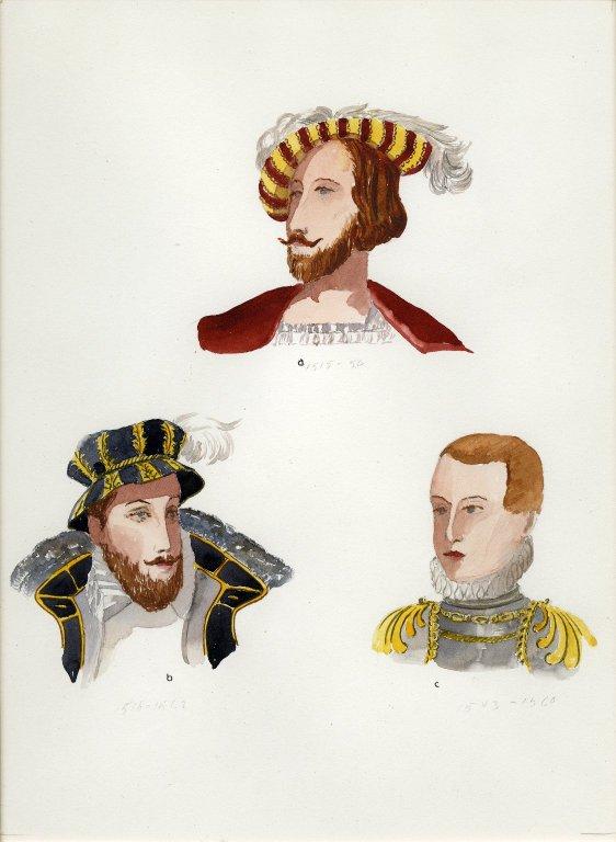 Plate XXIII: 16th Century French bonnet, bonnet, coiffure
