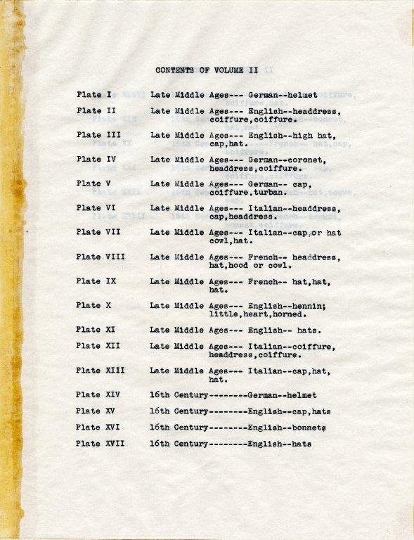 Contents of Volume II