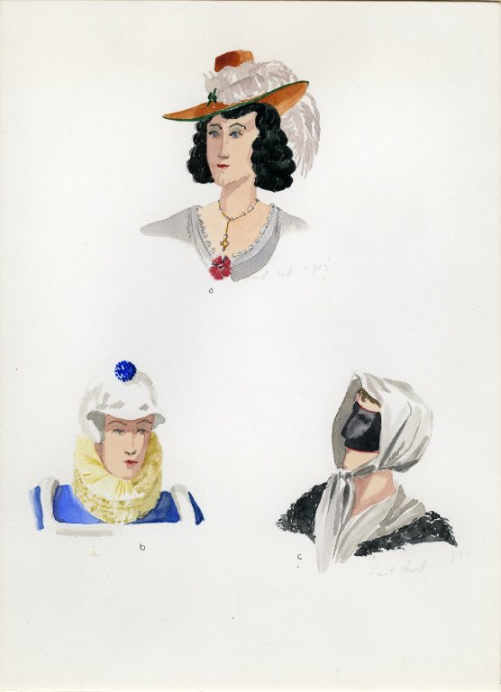 Plate IV: 17th Century German hat, cap, scarf