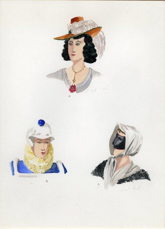 Plate IV: 17th Century German hat, cap, scarf