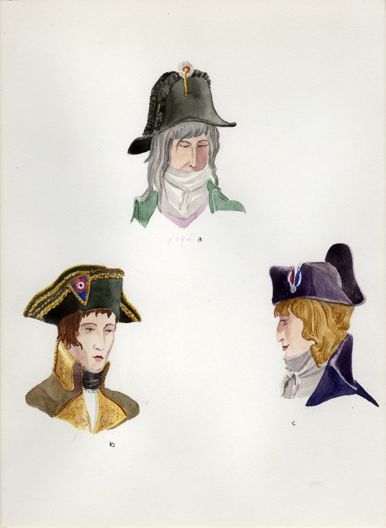 Plate XVI: 18th Century French hats