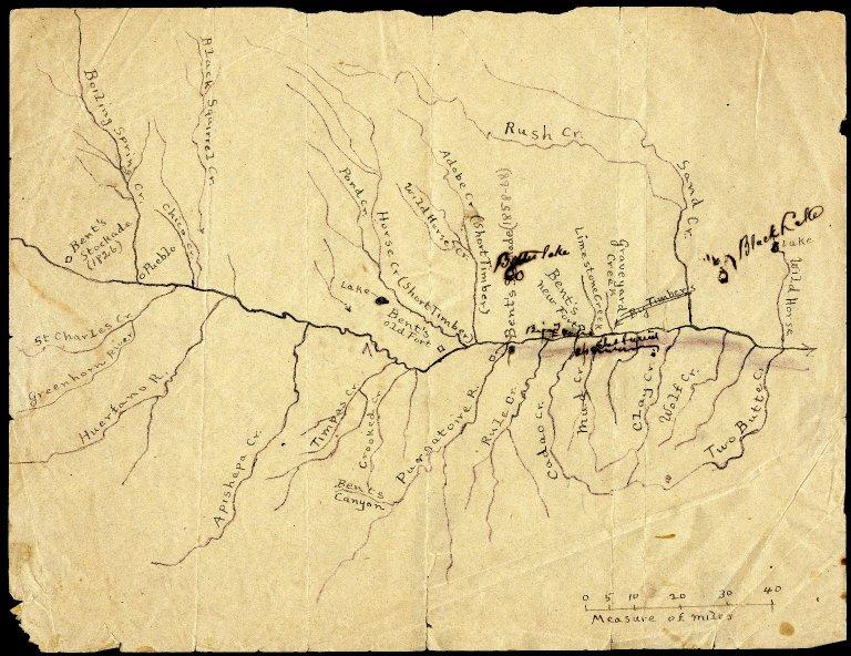 Arkansas River Area – locating Bent's Stockade, Bent's Old Fort, Big Timbers, Sand Creek
