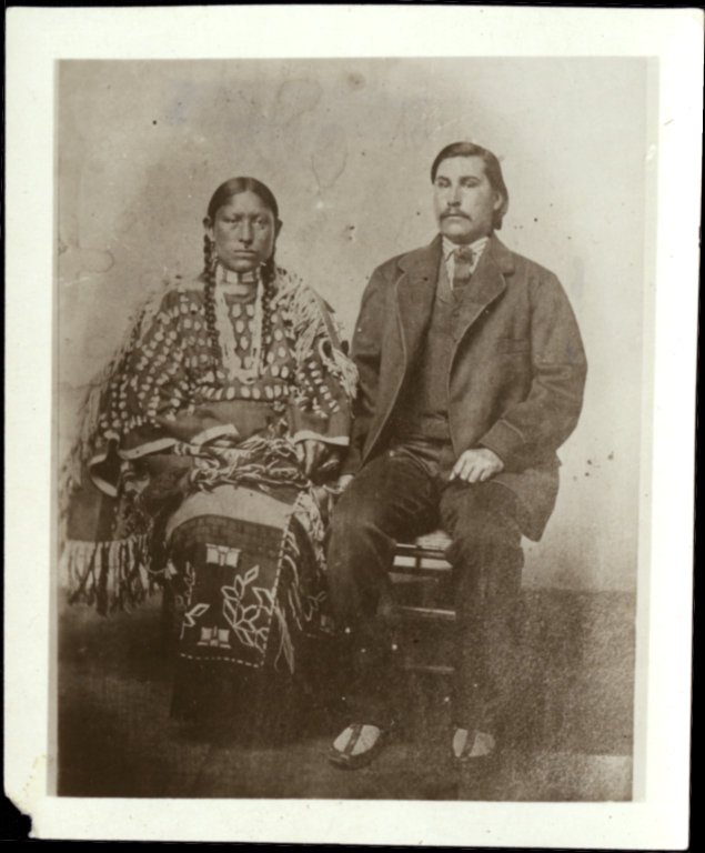George Bent and wife Magpie or Black Bird, photograph