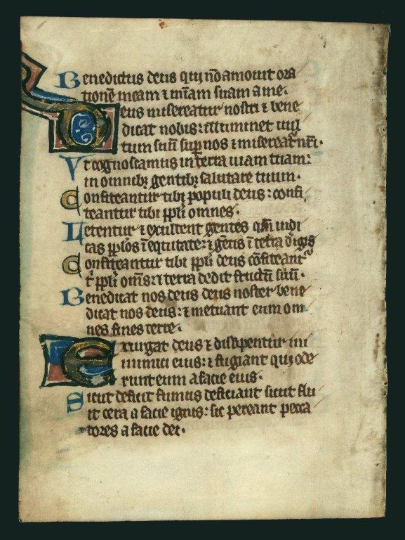 Psalter, illuminated.