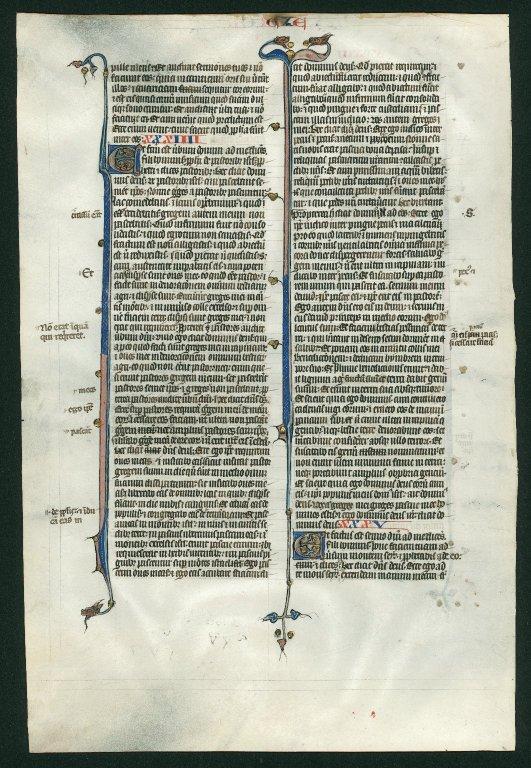 Bible, illuminated. France. Reverse: Ezekiel 33:31–35:3.