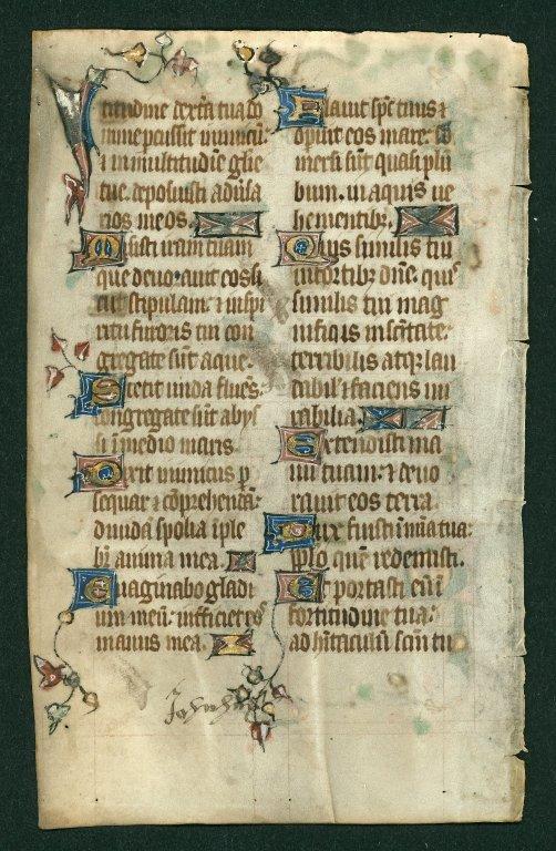 Psalter, illuminated. England