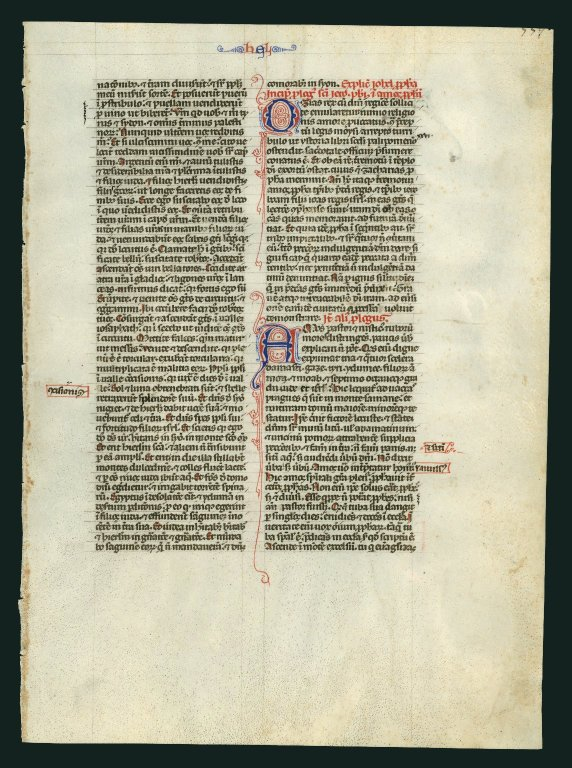 Vulgate Bible. Italy