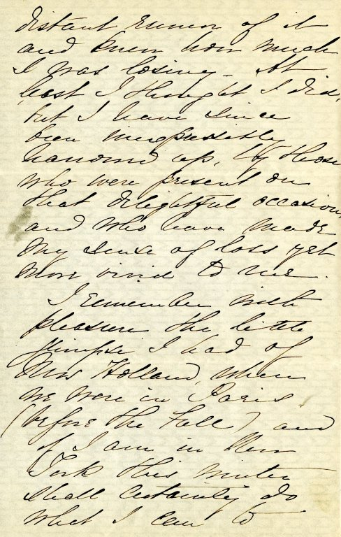 Bushnell, Louisa. ALS, 3 pages, [1872].