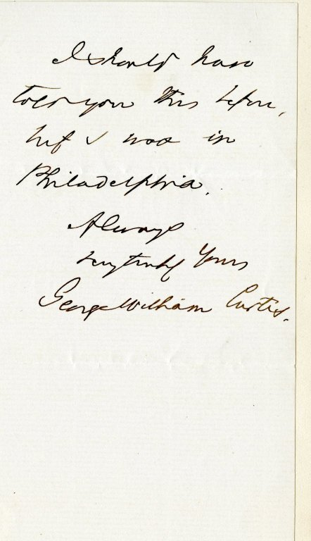 Curtis, George Wm. ALS, 3 pages, Oct. 21, 1872.