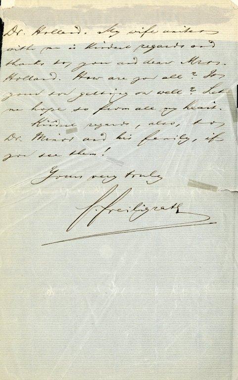 Freiligrath, Ferdinand. ALS, 7 pages, Midsummer 1873.