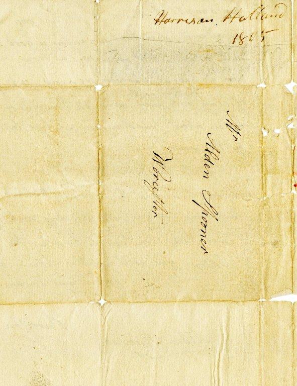 Holland, Harrison to Alden Spooner. ALS, 2 pages, June 16, 1805.