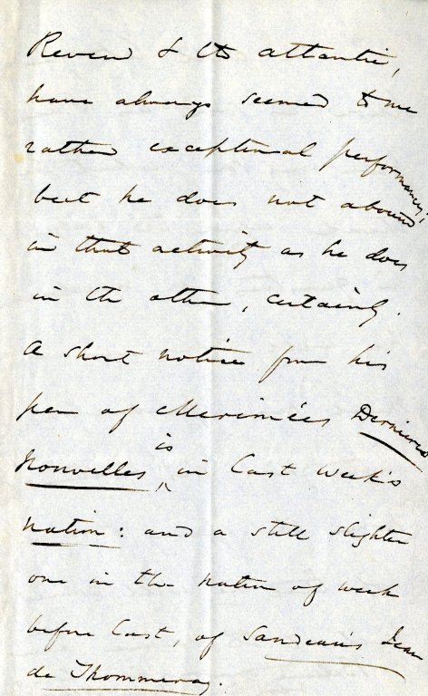 James, Henry, Sr. ALS, 8 pages, February 16, 1874.
