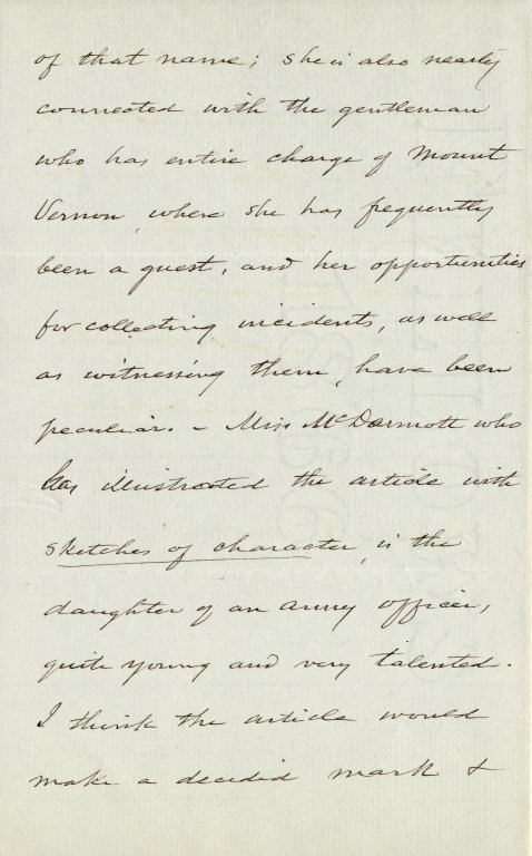 Lanman, Charles. ALS, 3 pages, May 9, 1877.
