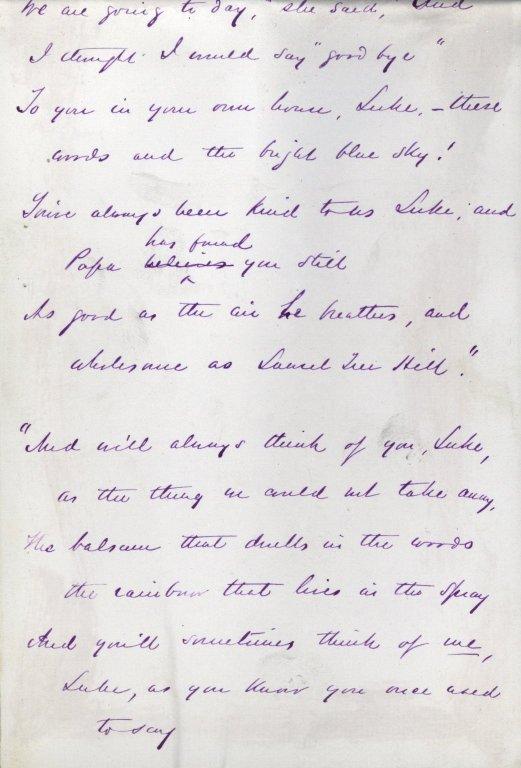 Harte, Bret. Holograph poem, 10 pages, signed, 1873.
