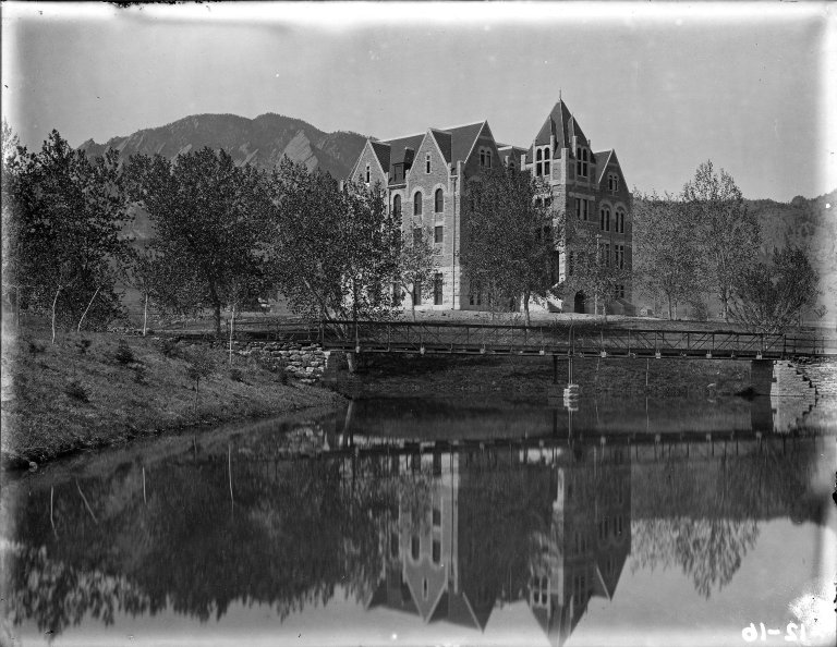 Hale Science Hall with Water