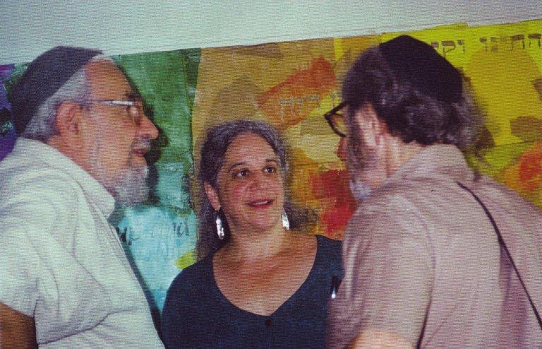 Rabbi Zalman Schachter-Shalomi, Eve Ilsen, and Charlie Roth, ca. 1995.