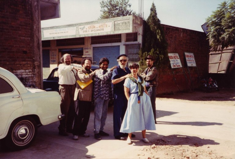 Participants in the 'Jew in the Lotus' Dialogues: Dr. Paul Mendes-Flohr, Rabbi Moshe Waldoks, unidentified man, Rabbi Zalman Schachter-Shalomi, Rabbi Joy Levitt, and Rodger Kamanetz, October 1990.