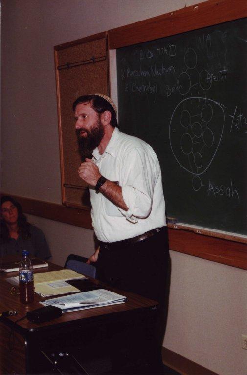 Rabbi David Zeller teaching at the Kallah, 1997.